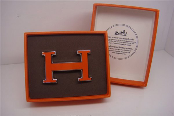 Hermes Enamel Buckle Orange