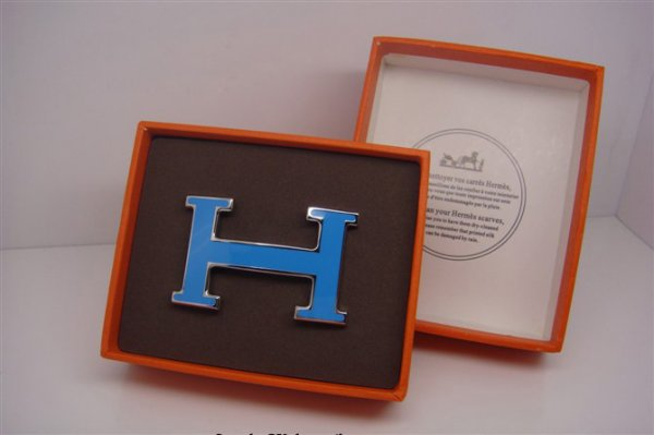 Hermes Enamel Buckle Blue