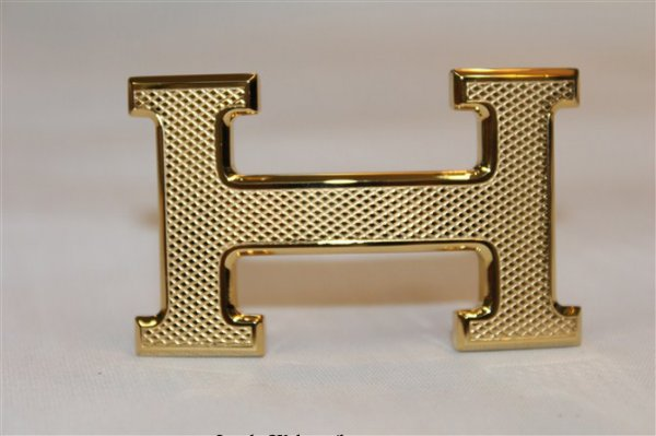 Hermes Rhombus Stripe Buckle Gold
