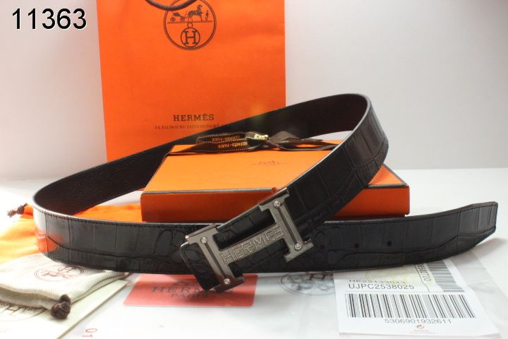 Mens with Grey Buckle Belt Black H Hermes Deals