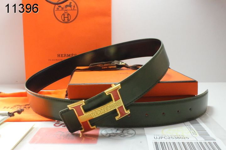 Amazing Hermes with Golden H Buckle Black Belt Mens Sale