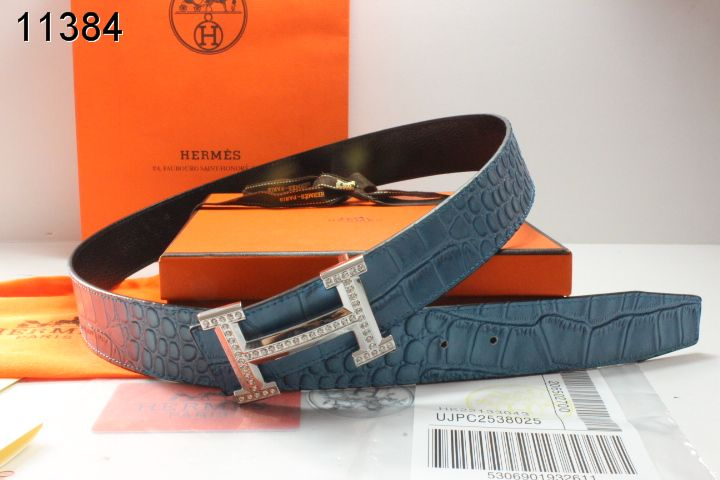 Designer Belt Blue Mens Hermes with Silver H Buckle Promote