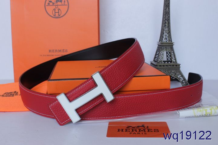 Belt with Silver H Buckle Mens Rose Hermes Online