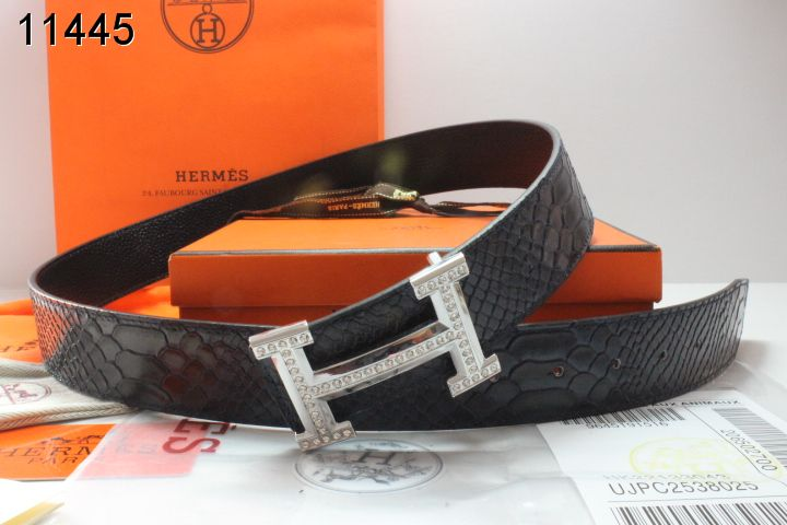 Hermes Belt with Silver H Buckle Black Mens Inexpensive