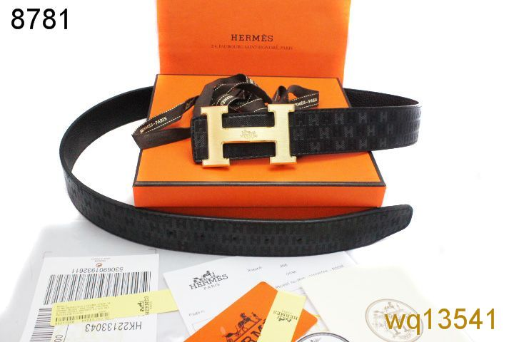 Custom Mens Hermes Belt Black with Golden H Buckle