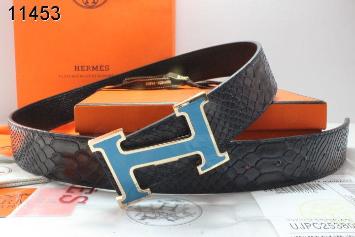 Cool Mens with Blue H Buckle Black Hermes Belt