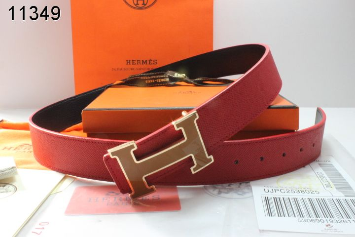 Belt Red Hermes Mens with Golden H Buckle Online