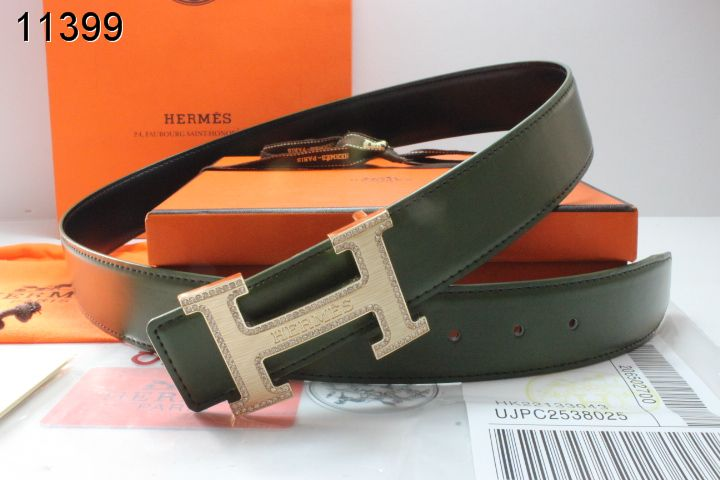Best Hermes with Golden H Buckle Chocolate Mens Belt