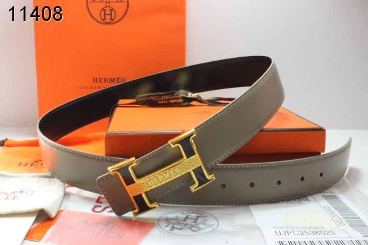 Discover Mens Grey with Golden H Buckle Hermes Belt Outlet