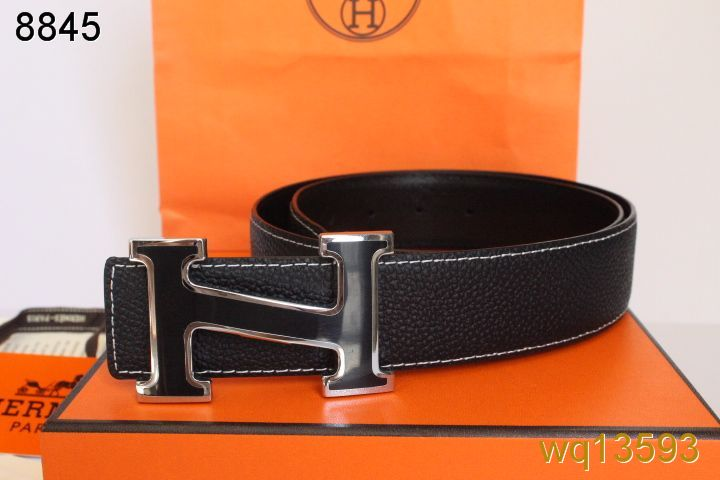 Freshest Mens Hermes Belt with Black H Buckle Black