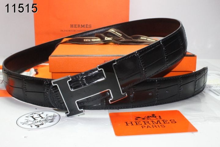 Belt Black Hermes with Black H Buckle Mens UK