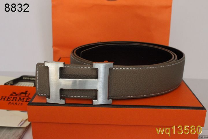 Discover Mens Belt Hermes with Silver H Buckle Grey Online
