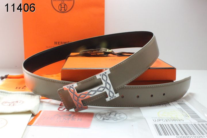 Amazing Belt Hermes Grey with Silver H Buckle Mens Online