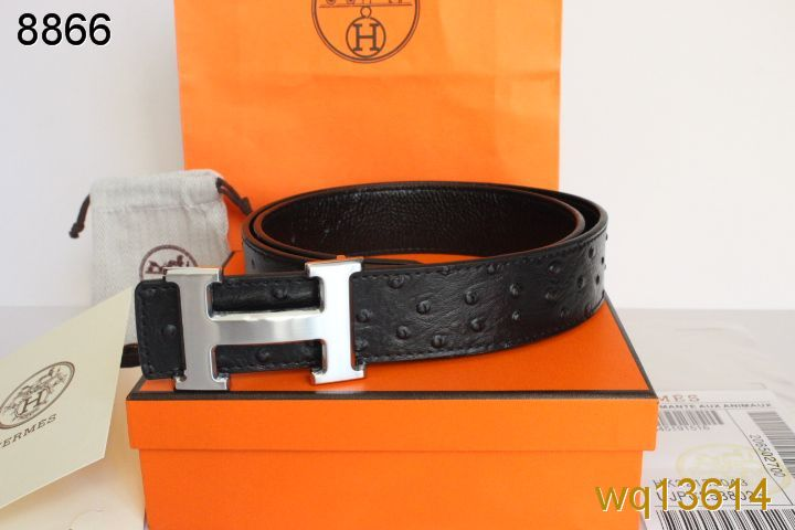 Black with Silver H Buckle Hermes Mens Belt Outlet
