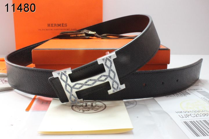 Hermes with Silver H Buckle Black Belt Mens UK
