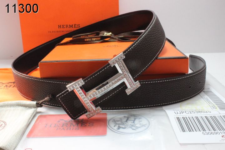 Fashionable with Silver H Buckle Mens Hermes Chocolate Belt Sale