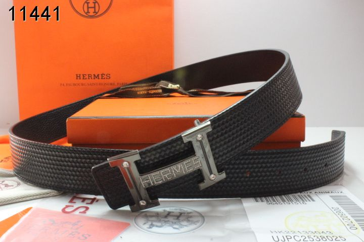 Buckle H Hermes Mens Grey with Black Belt Outlet