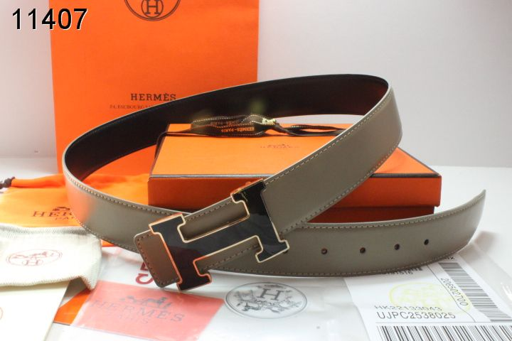 Amazing Hermes Mens with Black H Buckle Grey Belt Sale