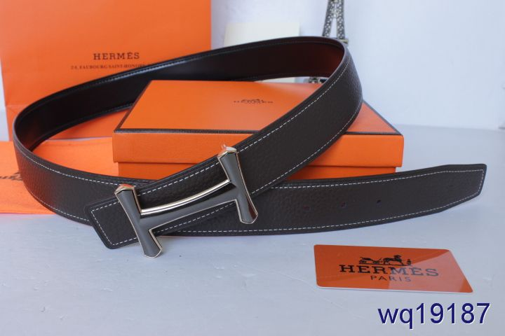 Personalized Black Mens Hermes Belt with Black H Buckle