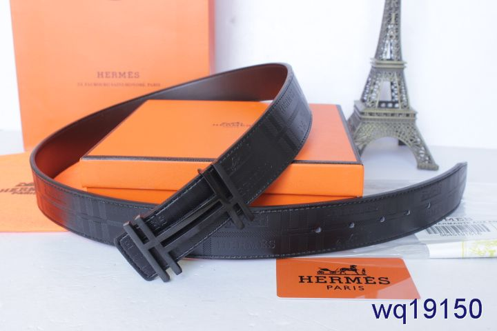 Original Hermes Belt Black with Black H Buckle Mens