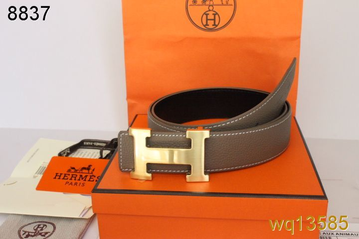 Latest Belt Grey Hermes Mens with Golden H Buckle Outlet