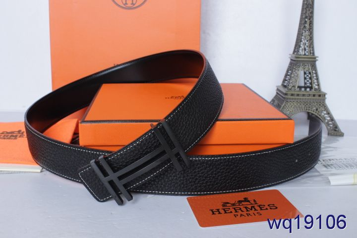 Latest Mens with Black H Buckle Belt Hermes Black