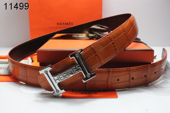 Purchase Brown with Silver H Buckle Hermes Mens Belt