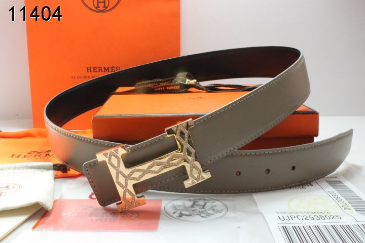 Designer Mens Belt Grey Hermes with Golden H Buckle Outlet