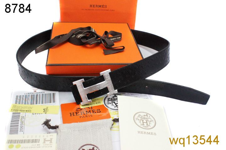 Hermes Black Belt with Silver H Buckle Mens Online