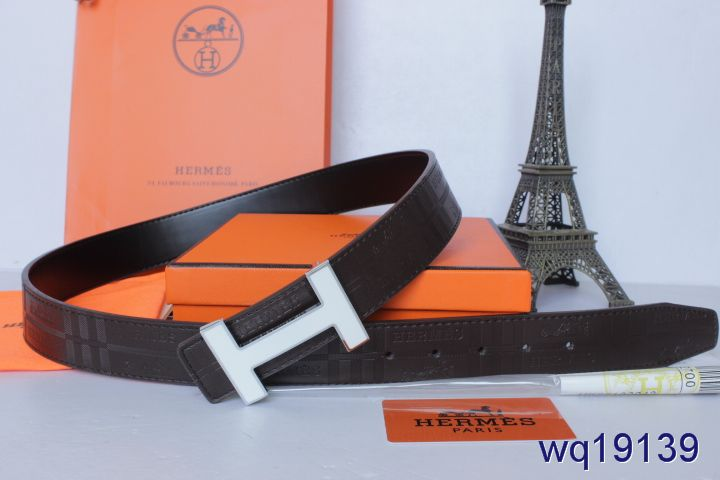 Black Mens Belt with Silver H Buckle Hermes Sale
