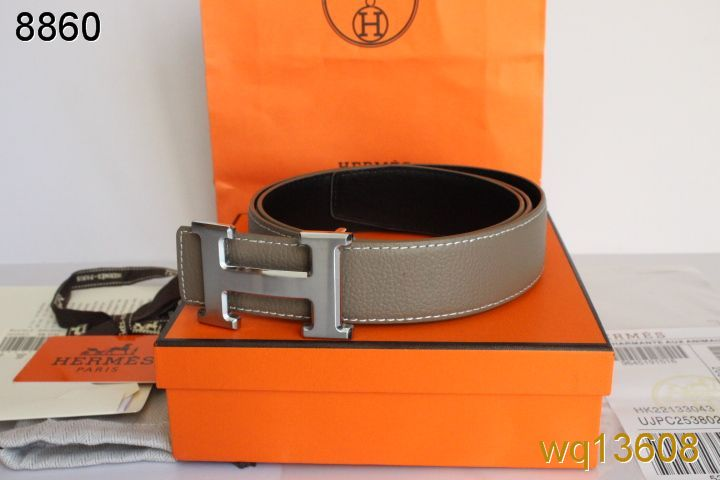Purchase Belt Grey Mens Hermes with Silver H Buckle Online