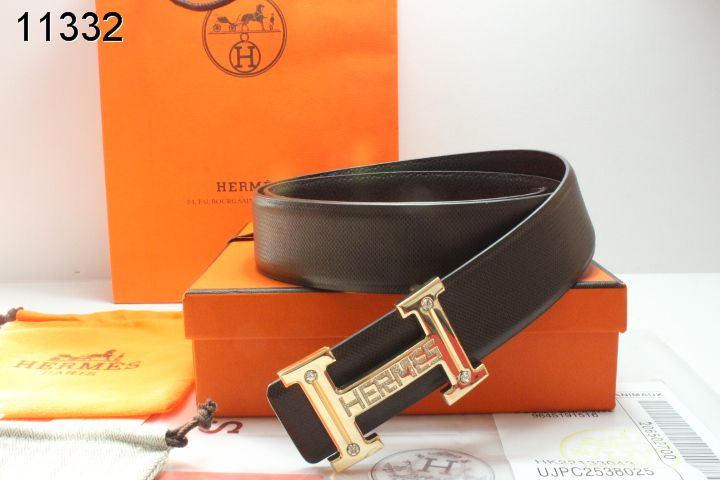 Hermes Belt Black with Golden H Buckle Mens Wholesale