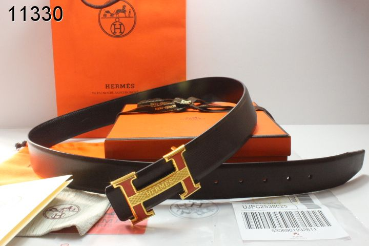 Black Mens Hermes with Golden H Buckle Belt On sale
