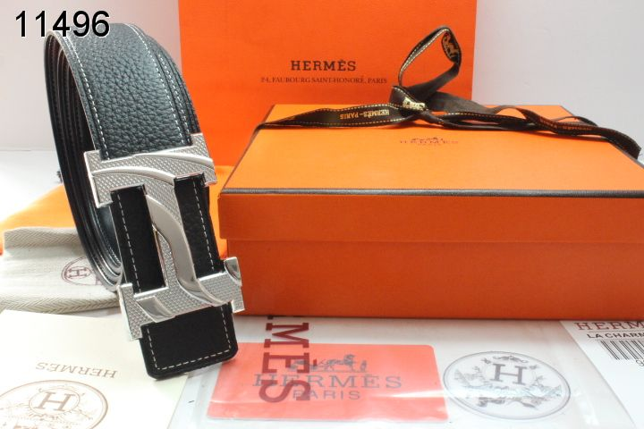 Black with Silver H Buckle Hermes Belt Mens Online