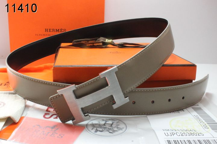 Buy with Silver H Buckle Hermes Grey Belt Mens Online