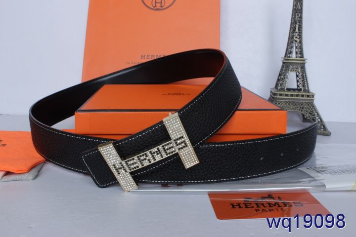 Black Hermes Belt with Silver H Buckle Mens Cheap Sale