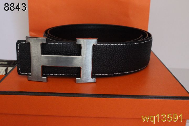 with Silver H Buckle Hermes Belt Mens Black Inexpensive