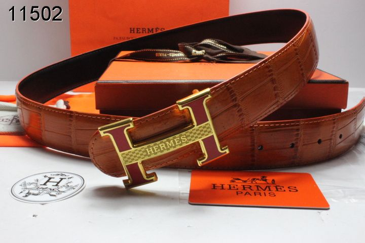 Amazing Hermes Brown Belt Mens with Golden H Buckle Sale