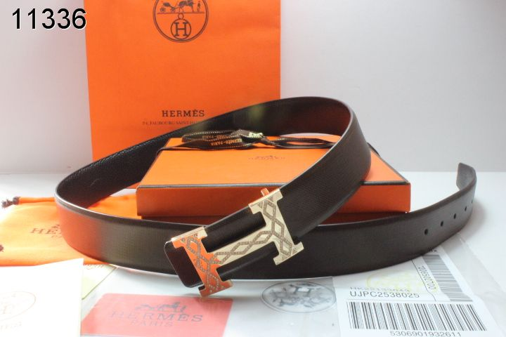 Mens Hermes with Golden H Buckle Black Belt Sale