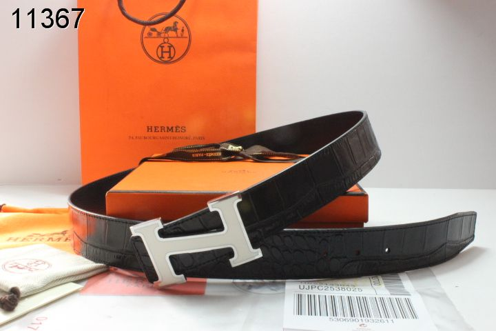 Latest Black with Silver H Buckle Mens Hermes Belt Cheap Sale