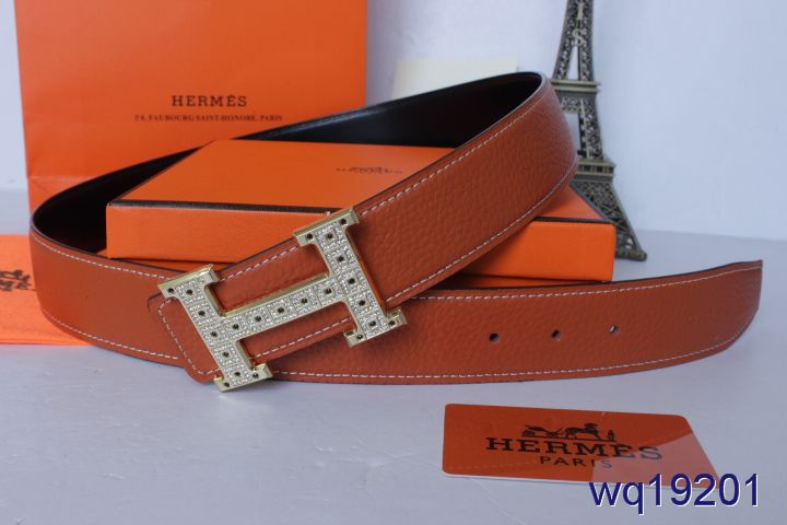 Fashion Hermes with Silver H Buckle Belt Orange Mens Cheap Sale