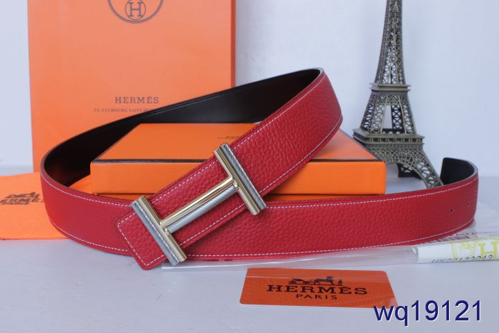 Hermes with Golden H Buckle Mens Belt Rose Clearance Sale