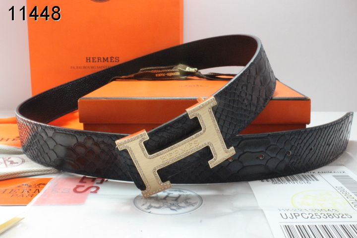 Luxury Belt Hermes with Golden H Buckle Mens Black Store