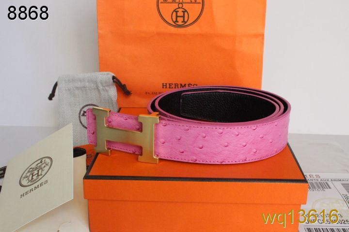 Belt with Golden H Buckle Mens Pink Hermes Online