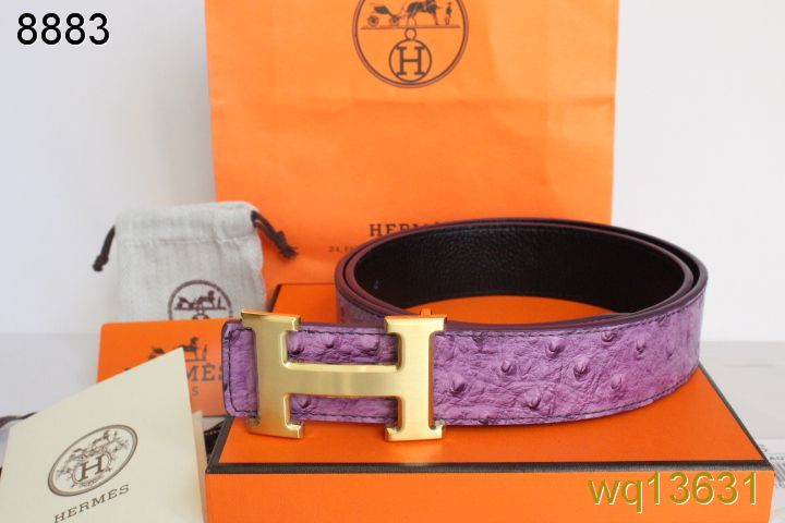 Purple with Golden H Buckle Mens Belt Hermes Sale