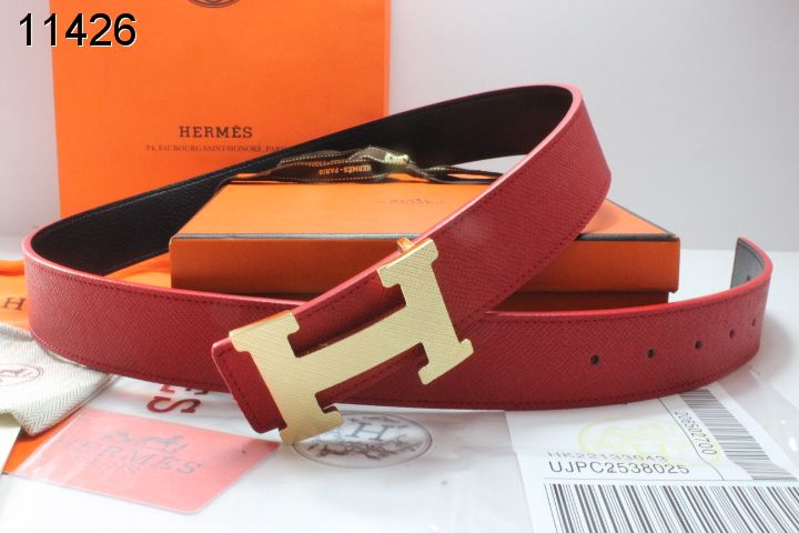 with Golden H Buckle Belt Hermes Mens Red Sale
