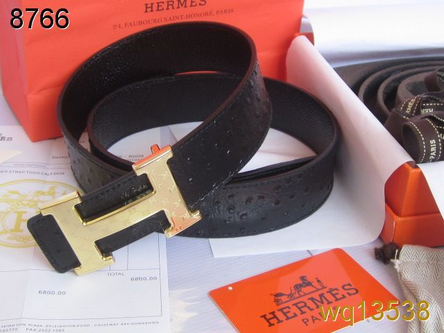 Cool Belt Hermes Black Mens with Golden H Buckle