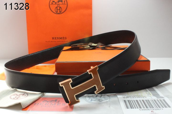 Hermes Belt Mens with Brown H Buckle Black Clearance