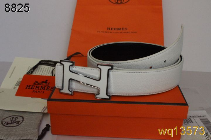 Mens Hermes with Silver H Buckle White Belt Sale
