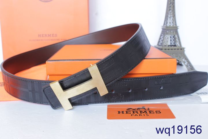 Black with Golden H Buckle Hermes Belt Mens Cheap Sale